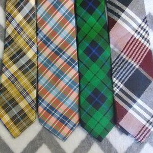 Ben Sherman 4 Plaid Tie Lot